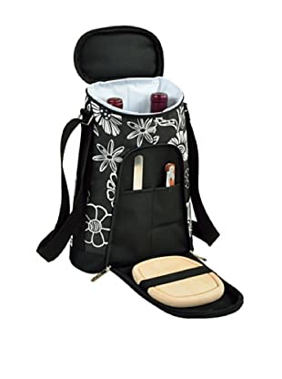 Picnic at Ascot 2-Bottle Carrier and Cheese Set, Night Bloom