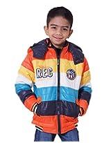LITTLE BUGS Boy's Full Sleeve Nylon Jacket -Orange