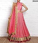 Georgette Design Round Gherdaar Lehenga Long Indian Occasion Function Anarkali Lehenga Choli Deewali