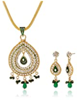 Aakhi Green Raindrops Jewellery Set for Women (AKS_ST_CONG)