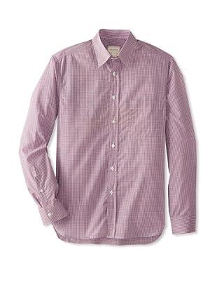 Billy Reid Men's Orleans Woven Shirt (Pink/Tan)