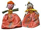 100% Recycled Handmade Fridge Magnets Rajasthani Dolls