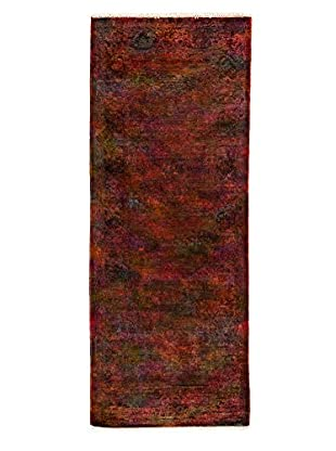 Darya Rugs Transitional Hand-Knotted Rug, Orange, 3' x 7' 10