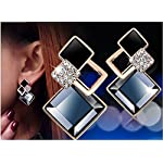 Aachiz Classic Fashion Jewelry Big Crystal Vintage Stud Earrings