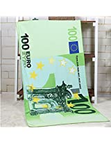 70x140cm Absorbent Microfiber Beach Towels Creative Design Print Quick Dry Bath Towel(Pattern: 100 Euro)