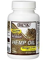 Devan Vegan Vitamins Hemp Oil - Omega 3 6 9 - Vegan - 90 Vegan Capsules