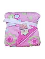 IMPORTED CARTER'S Blanket / Layette from BabySid -FLOWERS IN PINK 76cm X 102cm
