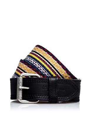 Pepe Jeans London Cinturón Chad (Negro / Multicolor)