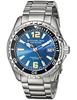 Stuhrling Original Men's 382.33116 Prestige Swiss Regatta Captain Quartz Diver Date Blue Dial Watch