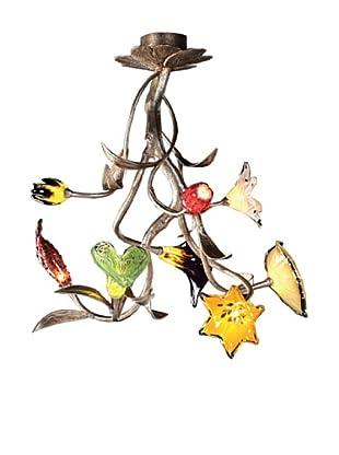Artistic Lighting 8-Light Chandelier, Silver Leaf
