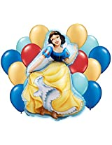 Disney Snow White Princess Mylar And Latex Balloon Bouquet (15 Pcs)