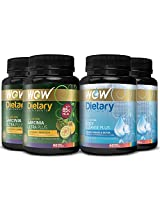 Wow Garcinia Ultra Plus - 90 Vegetarian Capsules with Wow Body Cleanse Plus Booster - 60 Capsules (Pack of 4)