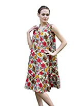 Meiro Women's Dress (15122_Floral_X-Large)