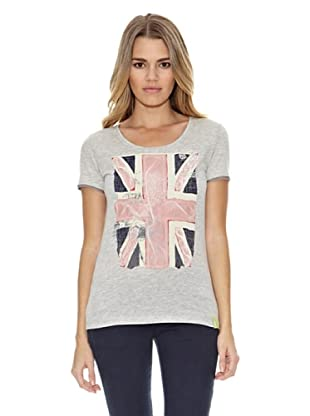 US Polo Assn Camiseta 2English Flag (Gris Medio)