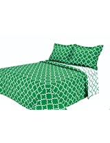 Eileen West Lattice by Melange Home Super Soft Quilt Set, Full/Queen, Green