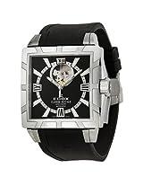 Edox Classe Royale Black Dial Black Rubber Men'S Watch 85007 3 Nin - Ex85007-3-Nin
