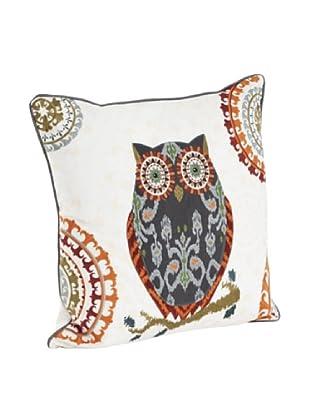 Saro Lifestyle Grey Owl Design Pillow