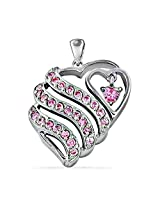 Artpalace CZ Collection Silver Pendant For Girls