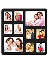 Trendzy Decor Black Wood Matte Finish 10-in-1   Photo Frame Collage
