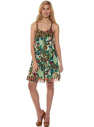 Peace & Love Vestido Estampado (Verde)