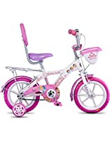 Hero Disney 14T Princess Junior Cycle with Carrier (White)