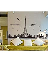 "UberLyfe ""Glow in Dark"" Eiffel Tower Skyline Wall Sticker for Living Room"