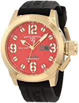 Swiss Legend Men's 10543-YG-05 Submersible Red Dial Watch