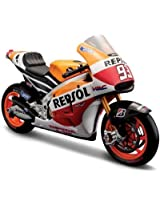 MAISTO 1:18 HONDA RCV 213 Diecast Motorcycle-ORANGE