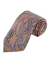 DAA7B25A Pink Blue Paisley Woven Microfiber Necktie Gift for Bridegrooms Tie Fashion Tie By Dan Smith
