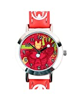 Iron Man Heroes Assemble Kids Analog Watch - Red