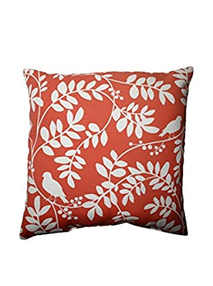 New Botany Coral Indoor/Outdoor Throw Pillow