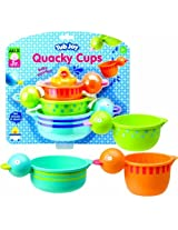 Stack, Drain And Squirt - Alex Jr. Tub Joy Quacky Cups Bath Toy (Colors may Vary)