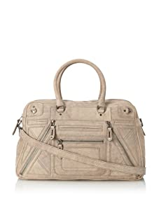 Rebecca Minkoff Women's Addiction Structured Multi-Zip Tote with Cross-Body, Mottled Grey