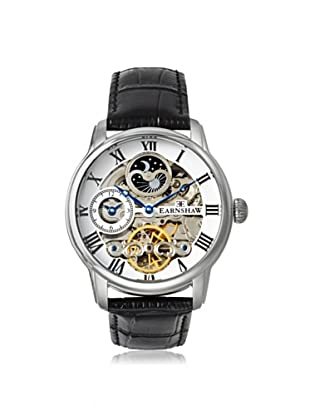 Earnshaw Men's 8006-01 Longitude Black/White Stainless Steel Watch