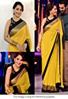 Madhuri Jhalak Liril Bollywood Replica Saree Yellow