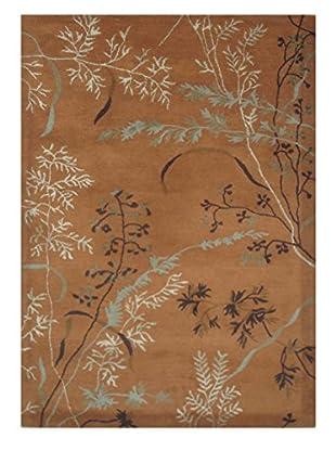 Wildflowers II Rug, Brown, 5' x 8'