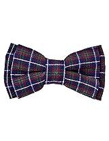 Tiekart Blue Checkered Men Bow Tie