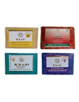 Khadi Soaps 500 Grams (Pack of 4) (CH0TLACH)