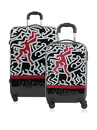 Keith Haring Set de 2 trolleys rígidos 29300
