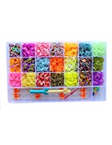 4200 Loom Bands in 21 Colour, 20 C-Clips, 1 Mini Crochet Hook, 1 Big Hook, 1 Loom
