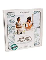 Bebe au Lait Nursing Essentials Cover and 2 Burp Cloths, Isla