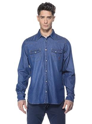 Zu-Elements Camisa vaquera Stipe-Bis (Azul)