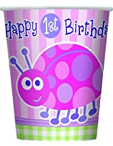 8 FIRST BDAY LDYBG 9OZ CUP