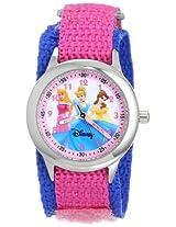 Disney Kids' W000055 Multi-Princess Stainless Steel Time Teacher Watch