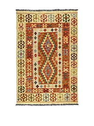 Eden Teppich Kilim-P beige/rot/mehrfarbig 122 x 177 cm