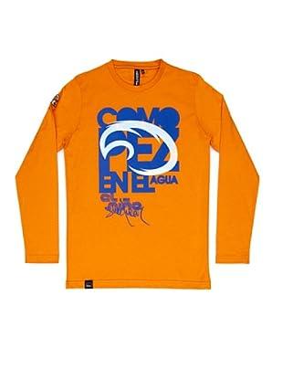 El Niño Camiseta Manga Larga Pez (naranja)