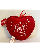 SOFT TOY-HEART CUSHION(RED) 20 cm