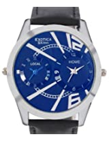 Exotica Modish Blue Dual Time Watch