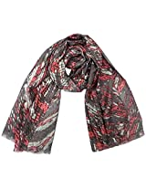 INDMODE Girls' Scarf (Choco and Red)