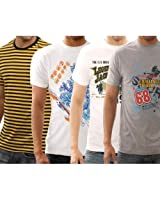 Funktees 100% Premium Cotton M Size T-Shirts - Pack of 4